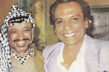 ما قصة الصورة التي جمعت زعيم الكوميديا المصرية بزعيم الثورة الفلسطينية