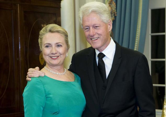 كلينتون وزوجته هيلاري أكثر زوجين تأثيرا في العالم