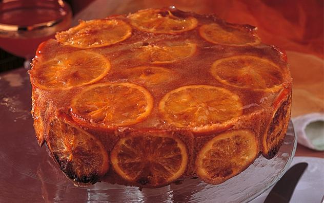 كيك شرائح البرتقال