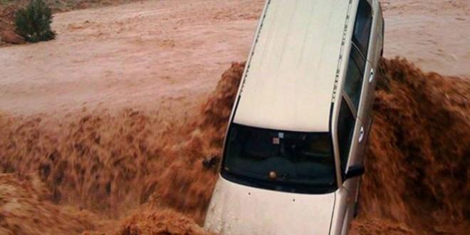 مقتل 5 وفقدان 16 في عواصف وسيول في جنوب المغرب.