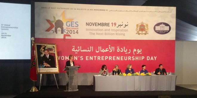 الكلمة للمرأة في القمة العالمية لريادة الأعمال في مراكش.