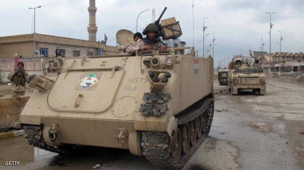 """الجيش العراقي يدمر تجمعا لـ""""داعش"""" بالرمادي."""