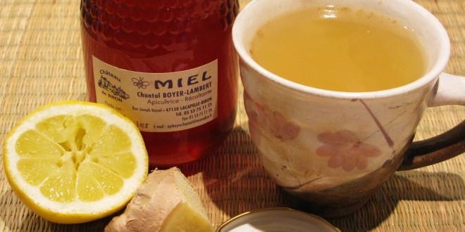 العسل والزنجبيل أفضل علاج لالتهاب الحلق.