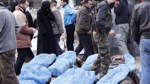 """العثور على مقبرة جماعية لضحايا """"داعش"""" في دير الزور."""