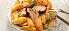 طريقة تحضير البطاطس الفرايز الصحية بالزعتر والبابريكا.