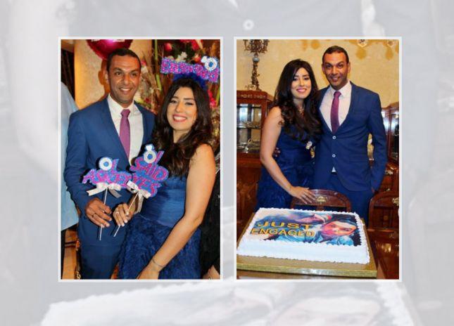 بالصور: حفل خطوبة آيتن عامر وعز العرب!