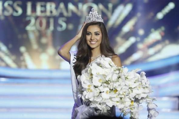 فاليري أبو شقرا ملكة جمال لبنان للعام 2015.