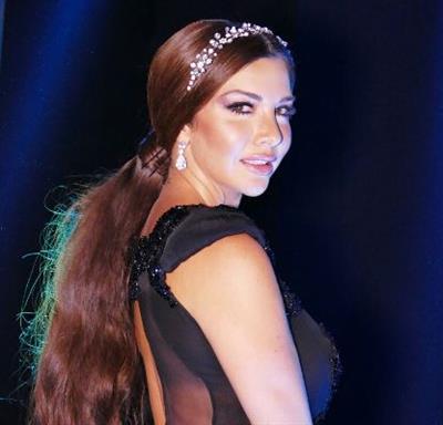 لاميتا فرنجية تتألق في ختام Arab fashion week.