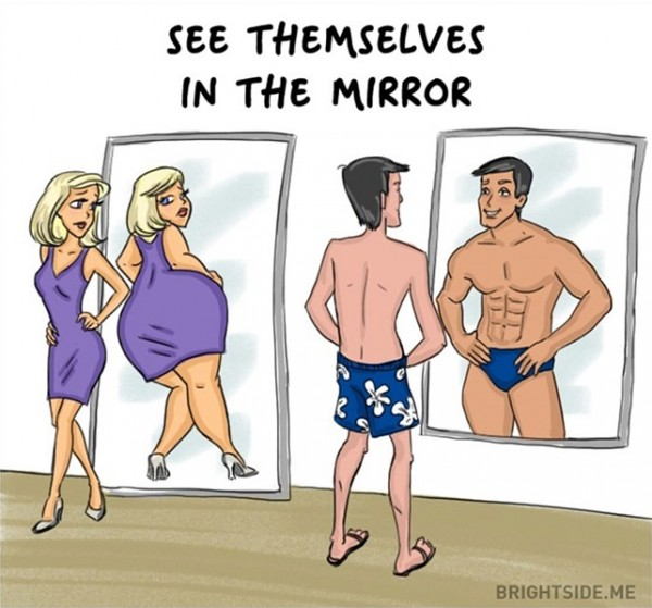 بالصور.. أشهر 12 اختلافا طريفا بين الرجل والمرأة