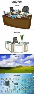 10- مكتب المرأة VS مكتب الرجل.
