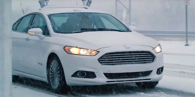 سيارة فورد الجديدة الذاتية القيادة تتصدى لمشكلة الثلوج