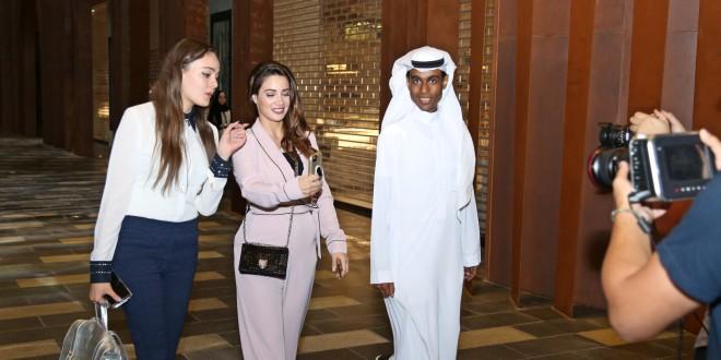 ديانا حداد تكرم الفائزين السعودي واللبناني في دبي