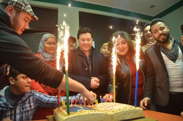 أعضاء نقابة الموسيقيين تحتفل بعيد ميلاد هاني شاكر