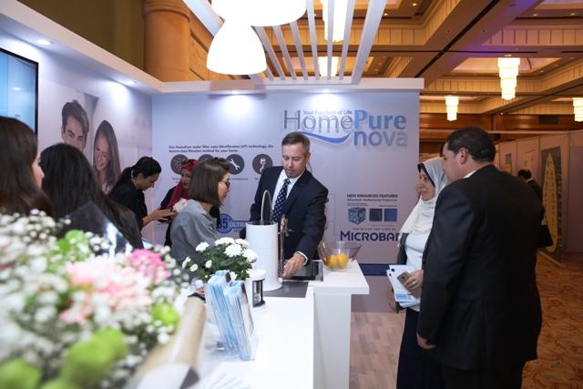نظامHomePure  لشركة QNET  يثير إعجابا في منتدى مجلس المياه العربي في مصر