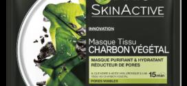 SkinActive Masque Tissu Charbon Végétal القناع الحل لمشاكل بشرة الوجه من Garnier