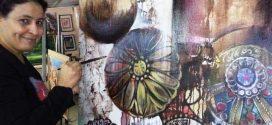 """الفنانة التشكيلية نعيمة السبتي تشارك بلوحات فنية جديدة في معرض """"مونتبوليي """" بفرنسا"""