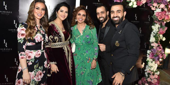 بحضور نجوم الفن والجمال والإعلام افتتاح صالون لورانس في دبي