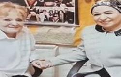 زوجة الرئيس السيسي قامت بزيارة الفنانة نادية لطفي بالمستشفى قبل وفاتها